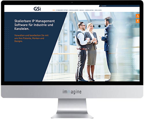 Website für GSI Office Management