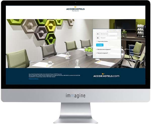 Website für Accorhotels Key Account - Immagine Webagentur München