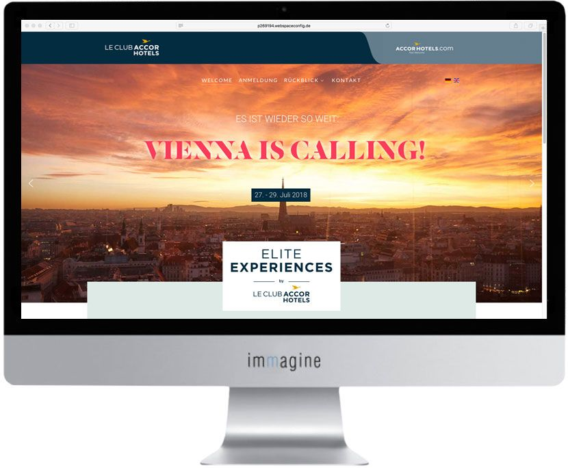 Website LeClub AccorHotels Elite Experience- Immagine Webagentur München