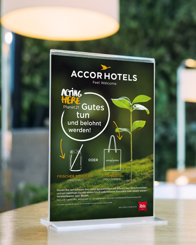 Accor Hotels Planet21 - Aufsteller