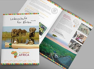 All Around Africa Folder - Immagine Werbeagentur München